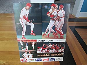 "TOM BROWNING 17""x22"" Sept. 16, 1988 Perfect Game Reds Baseball Poster/Photo"