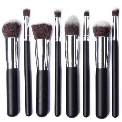 XCSOURCE à Kit de Pinceau maquillage Professionnel 8PCS Ombre à Paupière argent Blush Fondation Pinceau Poudre Fond de teint Anti-cerne Kit Pinceaux MT78
