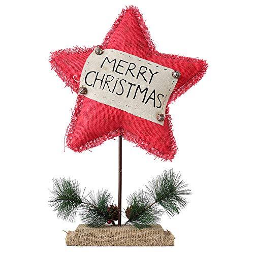 ZXLIFE@@ Pentagram kerstdecoratie met uniek design, keuze als decoratie, voeg een feestelijk gevoel toe voor vensterbank, hal, kerstboom