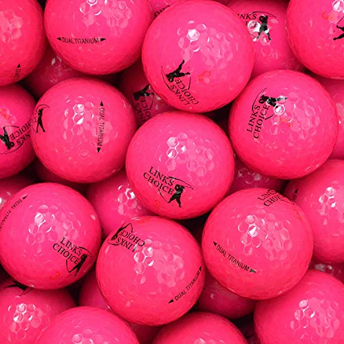 Links Choice - Lote de 12 Pelotas de Golf (de Colores, recuperadas) Rosa Rosa