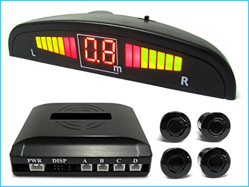CARALL SP3234 Kit 4 Sensore di Parcheggio Wireless Senza Filo Display LED Cicalino SB-323S-4