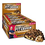 FITCRUNCH Protein Bars, Designed by Robert Irvine, Protein Bar, Gluten Free, Award Winning Taste, Whey Protein Isolate, Low Sugar (12 Bars, Chocolate Chip Cookie Dough)