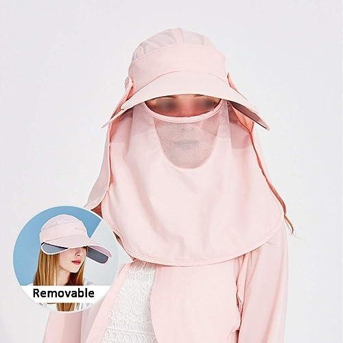 Q.AWOU Sun Hats Couverture de Prougeection Contre Le Soleil multifonctionnelle pour Femmes Ajustable en été Face à la Navigation de Plaisance Randonnée Escalade, 7 Couleurs Disponibles (Couleur  5 )