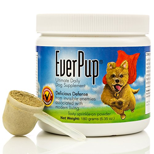 Functional Nutriments Everpup Ultimate Daily Dog Supplement with Glucosamine, Prebiotics, Probiotics, Apoptogens, Vitamins and Minerals for Healthy Joints, Immunity, Digestion and Skin