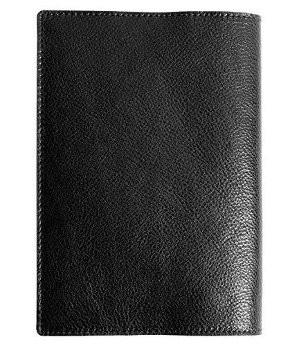 Dom Teporna Italy 文庫本サイズ ブックカバー 本革 イタリアンレザー 手帳カバー 文庫 サイズ おしゃれ メンズ レディース ブラック