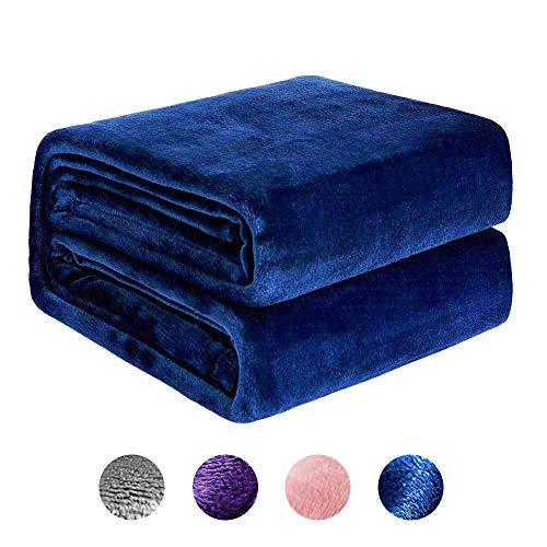 NEWSHONE Couverture en Molleton de Flanelle Couverture Double/Twin - Cozy Soft Couvertures de lit de Chaudes et légères pour canapé, Couverture multifonctionnelle en Microfibre Toutes Saisons