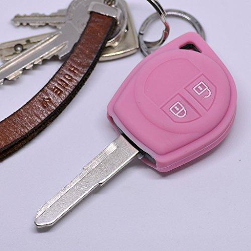 Soft Case Funda Protectora Llave del Coche Suzuki Swift SX4 Vitara JIMNY Tecla remota/Color Rosa