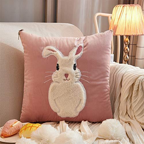 KCCCC Manta de Viaje y Almohada Chica Rabbit Heart Cojín edredón Multifuncional sofá Amortiguador del Coche de Doble finalidad de la Almohadilla del edredón Premisoft 2 en 1 Manta de avión