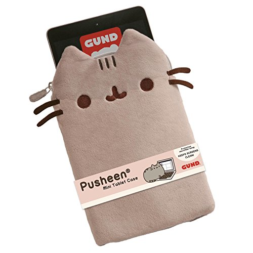 GUND Pusheen Stuffed Animal Mini Tablet Case Cat Plush, 10'