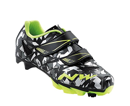 NORTHWAVE Hammer Junior MTB Kinder-Schuhe CAMO/YELLOW FLUO - 2