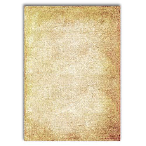 Briefpapier Vintage / 50 Blatt / DIN A4 / 100g / beidseitig bedrucktes Motivbriefpapier in premium Qualität – The Creators