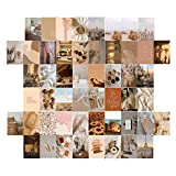 Greatideal Brown Series Aesthetic Pictures 50 Set,