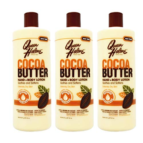 3x Queen Helene Cocoa Butter Hand and Body Lotion 907g (insgesamt - 2,72kg)