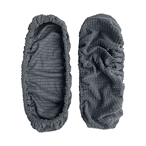 kwmobile 2x Hülle für Bürostuhl Armlehne - Bezug Husse Cover - Schutzhülle abnehmbar Schoner universal - in Dunkelgrau