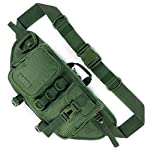 Fitdom Tactical Sling Bag for Men. Made from Heavy Duty Techwear Nylon