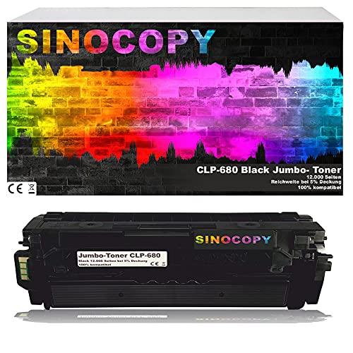 SinoCopy Jumbo-Toner Black Toner für Samsung CLP-680 BK 12000 S, kompatibel zu Samsung CLP-680 DW ND Series CLX-6260 FD FR FW ND - CLT-K506L C506L M506L Y506L