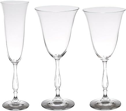 Conjunto 18 Taças Bohemia Transparente Único