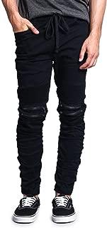 Zipper Knee Biker Twill Jogger Pants