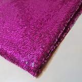 Textile Station Paillettenstoff, magentafarben, glitzernd,