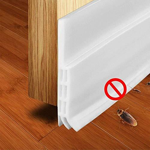 1m * 45mm * 5mm Kleber unter der Tür Sweep Weather Stripping Schalldichter Gummi-Boden-Dichtungsstreifen, weiß