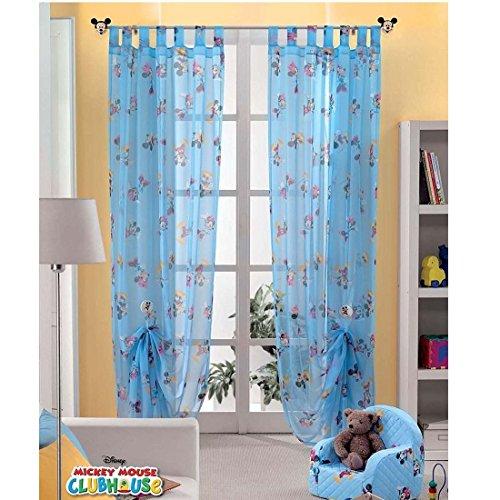 Disney Original Mickey & Minnie Mouse 1 St.XXL Fertig-Schlaufenschal/Gardine/Vorhang L 290cm x B 140cm Blau NEU