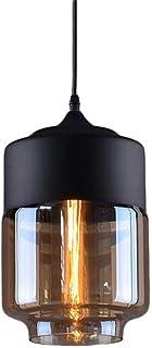Weare Home Lámpara de techo con forma de cilindro de cristal transparente