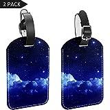 LORVIES - Etiquetas de equipaje con luz de luna para equipaje (2 unidades)