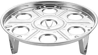 BESTONZON Cesta de vapor de acero inoxidable vaporizador vaporizador de huevos Estante redondo de vaporizador Soporte de rejilla para accesorios de olla/olla a presión instantánea
