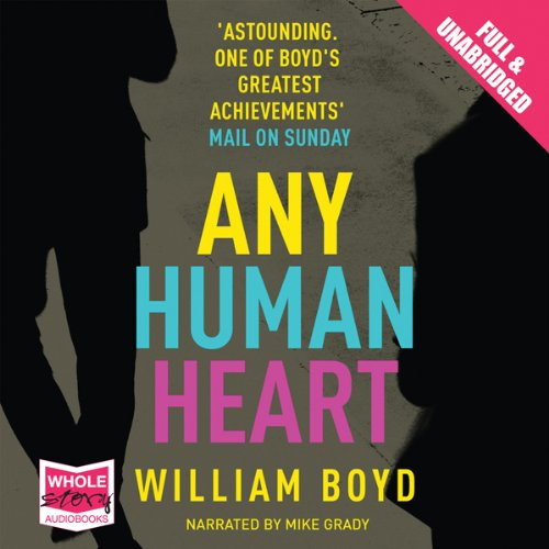 Any Human Heart audiobook cover art