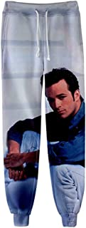 ZQ Beverly Hills 90210 Luke Perry Impresión Digital 3D Pantalones Casuales con Cordón para Adolescentes Pantalones con Cor...