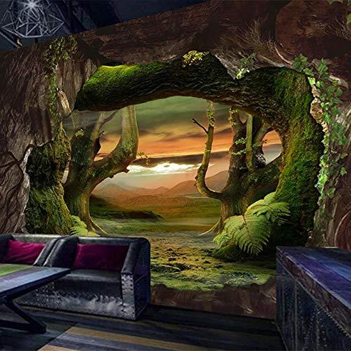MAZF cualquier tamaño mural papel pintado creativo moderno 3D estéreo cueva piedra pared virgen bosque fresco salón restaurante fondos de pantalla