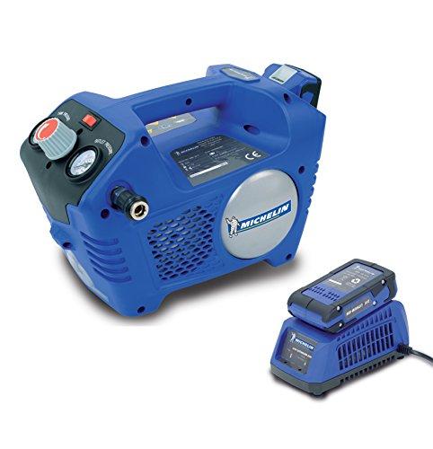 MICHELIN Mbl24V Compresor de aire portátil con batería y cargador, Azul