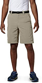 Columbia Sportswear Men's Big and Tall Silver Ridge Cargo Shorts, Fossil, 42 x 10