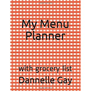 My Menu Planner with grocery list (Jazzy Journals)
