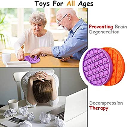 N//A American Blasting Bubble Irritable Toys Pink Decompression Toys for Special Needs of Autism Squeezing Toys,Silicone Toys for Relieving Stress and Anxiety