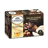 L'Angelica, Le Tisane Emozioni al Cacao, Tisana Funzionale con il Pregiato Cacao Criollo, Cocco e Caramello, Senza Lattosio, Senza Glutine - 10 Confezioni