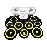 JIAGU Schlagzeug-Übungspad, tragbar, USB, geeignet für Anfänger, integrierter Audio-Player, mit...