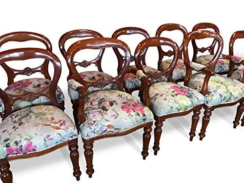 CMC Designs, antigüedades y Pulido francés, Juego de sillas de Comedor Estilo Victoriano con Respaldo de Globo