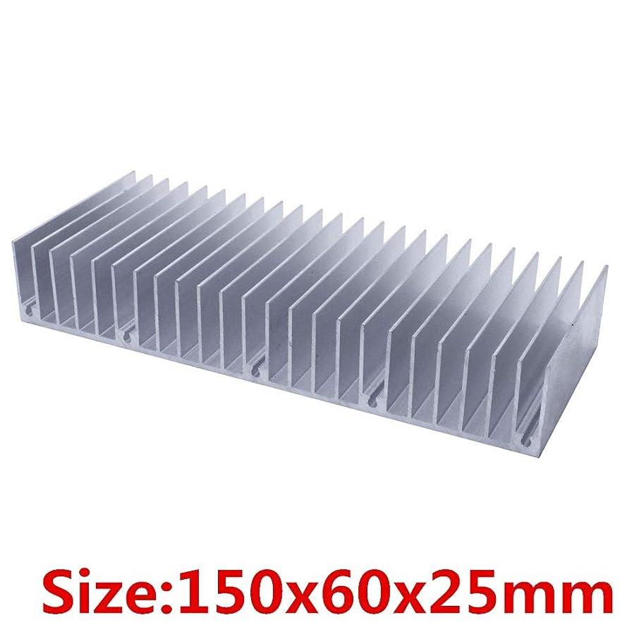 ZHONGJIUYUAN 1 Piece 60X150X25MM Radiator Aluminum heatsink Extruded Heat Sink for LED Electronic Heat Dissipation Cooling Coole