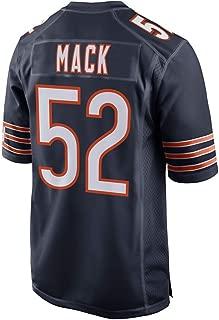 Majestic Men's Chicago Bears #52 Khalil Mack Navy Jersey