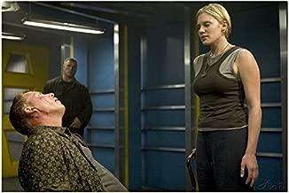 Kara 'Starbuck' Thrace on Cane Interrogating Leoben Conoy Cylon - Battlestar Galactica 8x10 Photograph - HQ - BSG
