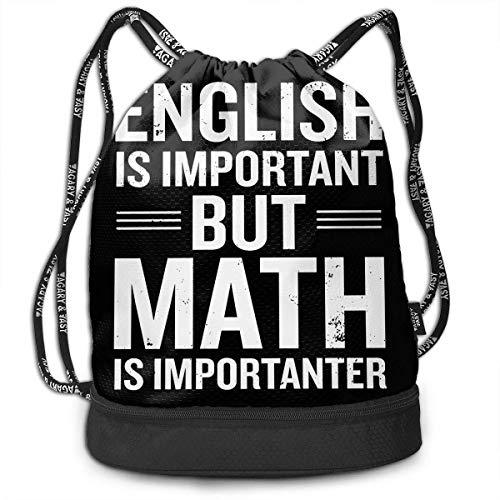 Engels is belangrijk, maar Mathe is een belangrijke bundel backpack Fashion Tote Bag