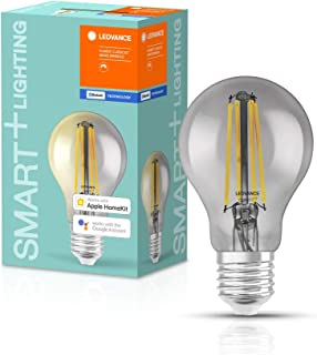LEDVANCE Smart Led Lamp With Bluetooth, E27, Dimmable, Warm White (2700 k), Replaces Incandescent Lamps With 44 W, Control...
