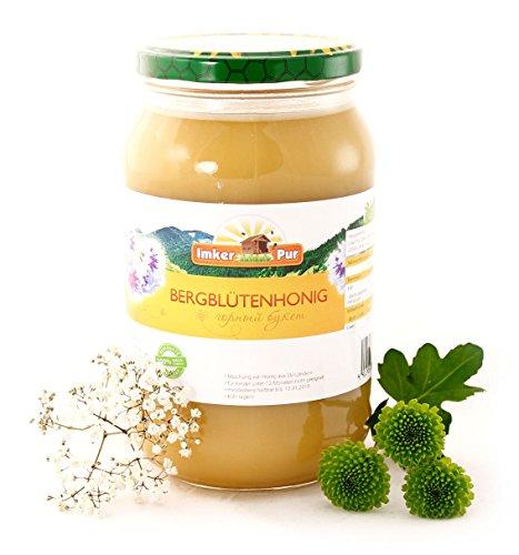 Bergblüten-Honig von ImkerPur, 1200g, fein-fruchtig, mit einer feinen Bergkräuter-Note