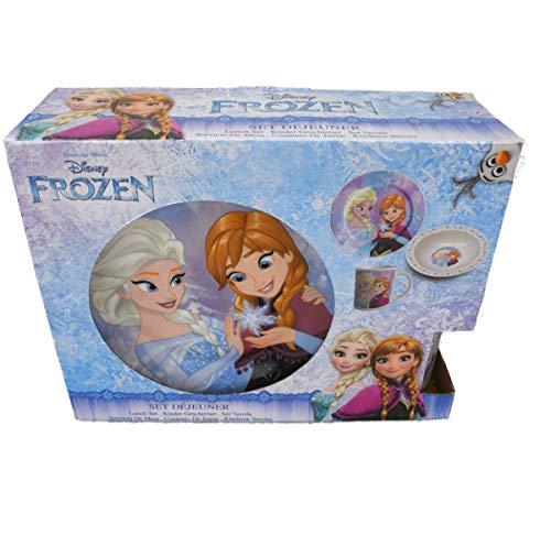 Unbekannt Beta Service el51291 la Reine des Neiges Frozen Set Petit Déjeuner III, 3 pièces, Plastique, Multicolore, 15 x 25 x 12 cm