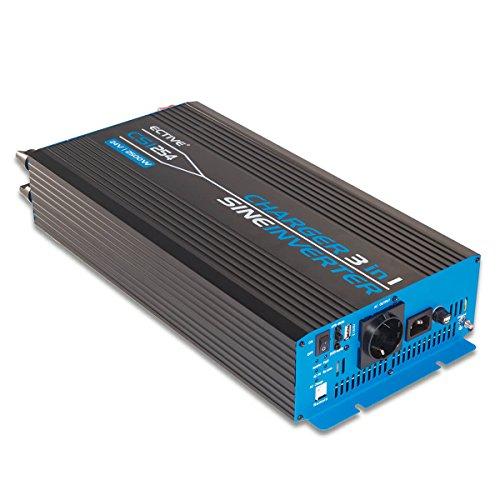 ECTIVE 2500W 12V zu 230V CSI-Serie reiner Sinus Wechselrichter mit Batterie Ladegerät und NVS in 7 Varianten: 300W - 3000W