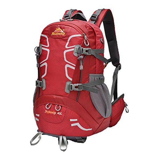 OHmais Unisexe Sac à dos Randonnée Alpinisme Imperméable Grande Contenance Escalade Trekking avec Housse de Pluie 40L en oxford Idéal pour voyage