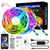 SZHFU Striscia LED da 20 m, RGB LED 360 LED, cambia colore, con telecomando, controllo app, modalità musica, regolazione timer, dimmerabile, per casa, camera da letto, TV e cucina