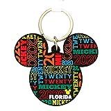 ディズニー ミッキーマウス型 フレキシブル 2020年 フロリダキーチェーン 3 1/4インチ