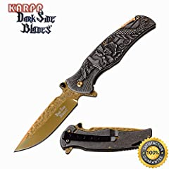 "8"" OVERALL 3.5"" 3Cr13 STEEL BLADE TINITE COATED BLADE THE BEST ERGONOMIC MATERIALS AND DESIGN. The fold blade of a assisted opening knife using high-quality stainless steel contains more carbon, giving it excellent hardness and edge retention. CUSTOM..."
